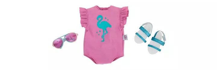 Chad Valley Designafriend Flamingo Beach Outfit