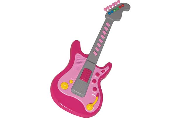 Chad Valley Electronic Toy Guitar Pink