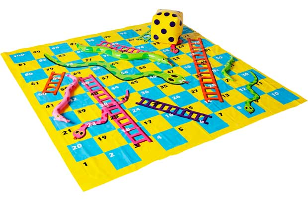 Chad Valley Giant Outdoor Snakes And Ladders