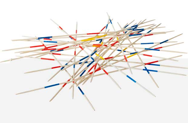 Chad Valley Giant Wooden Outdoor Pick Up Sticks