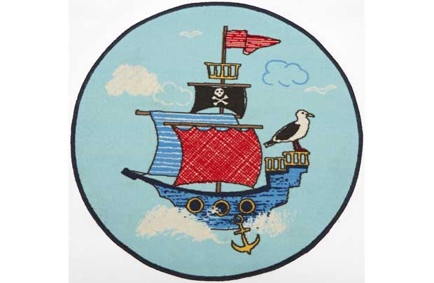 Chad Valley Pirates Rug Blue