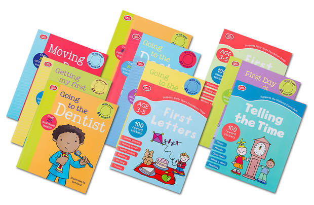 Chad Valley Playsmart 10 Pack Preschool Fun Learning Books