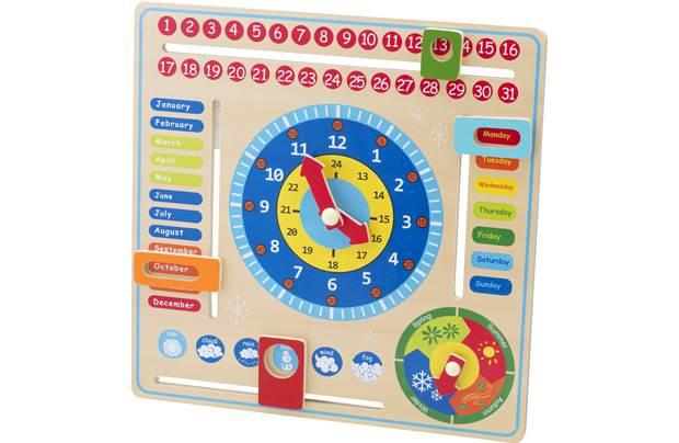 Chad Valley Playsmart Wooden Calendar