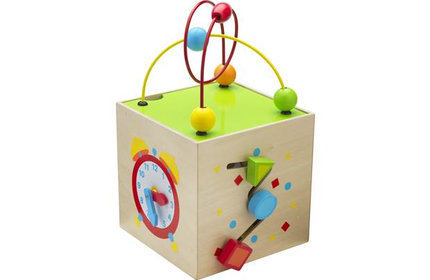 Chad Valley Playsmart Wooden Mini Activity Cube