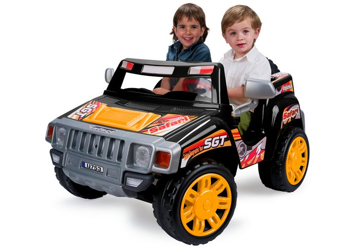 Chad Valley Safari Jeep 2 Seater 12V Powered Ride On