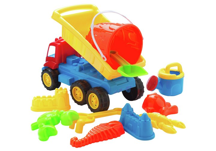 Chad Valley Sand Truck and Tools Set
