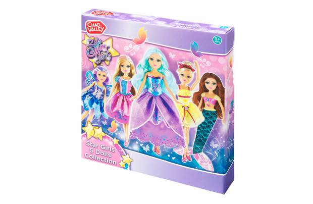 Chad Valley Star Girls 5 Doll Collection