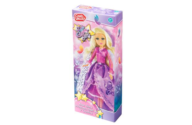 Chad Valley Star Girls Princess Doll And 7 Outfits