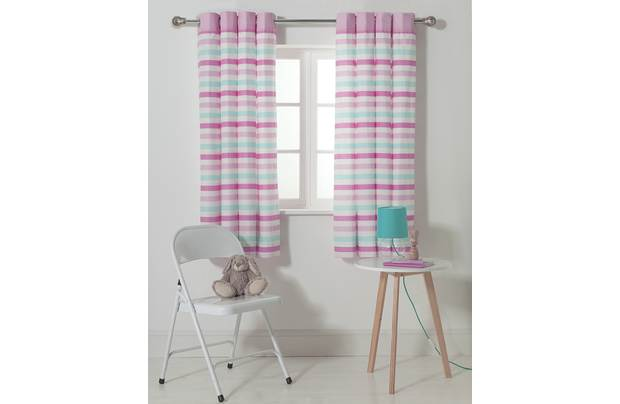 Chad Valley Stripe Eyelet Lined Curtains