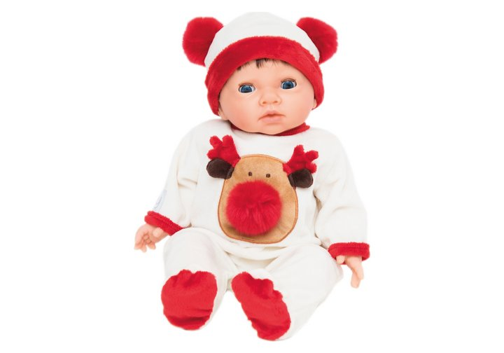 Chad Valley Tiny Treasures Reindeer Pom Pom Outfit