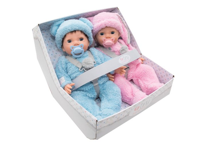Chad Valley Tiny Treasures Twin Fluffy Bumper Set