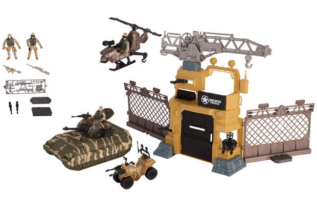 Chad Valley Viii Tank And Camp Playset