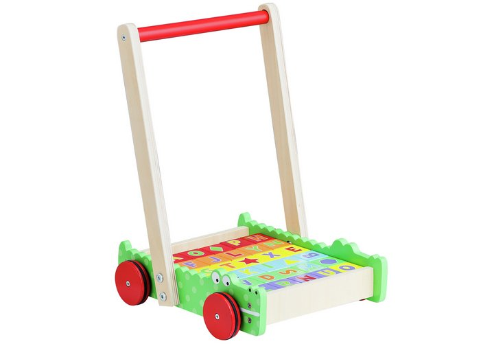 Chad Valley Wooden Crocodile Trolley