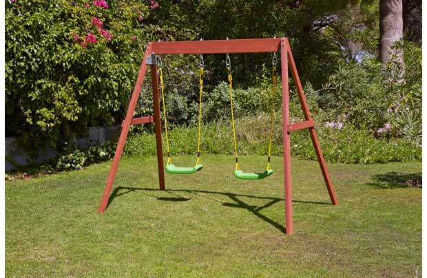 Chad Valley Wooden Double Swing