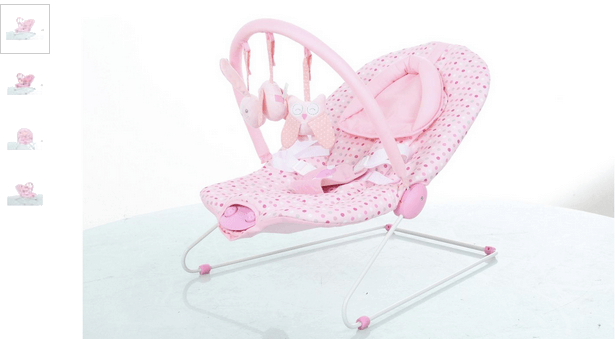 Baby by Chad Valley Deluxe Pink Bouncer