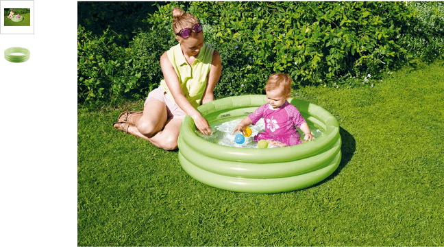 Chad Valley 3 Ring Paddling Pool - 3ft - Green