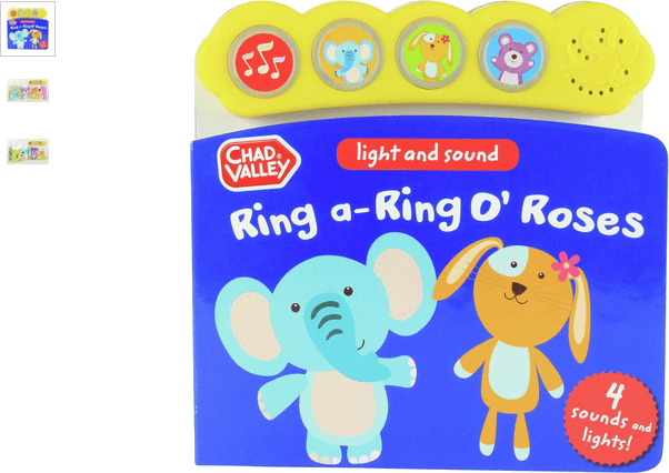 chad valley 4 button sound book - ring o' roses