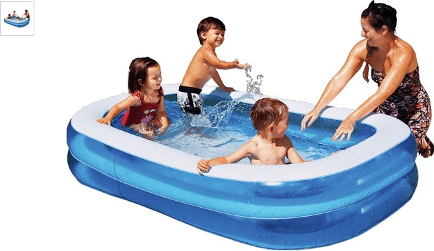 Chad Valley 400L Rectangular Paddling Pool