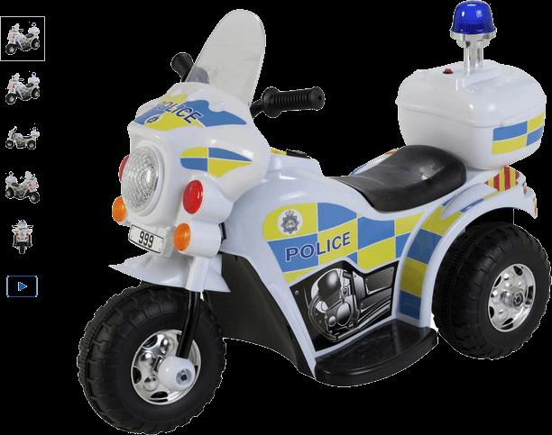 Chad Valley 6V Police Bike