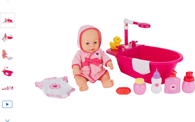 Chad Valley Babies to Love 12 Piece Doll and Bathtime Set