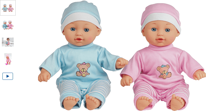 Chad Valley Babies to Love Talking Twin Dolls