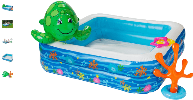 Chad Valley Children's Pool Set with Spray Turtle