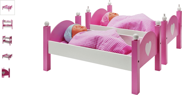 chad valley classic wooden dolls bunkbed