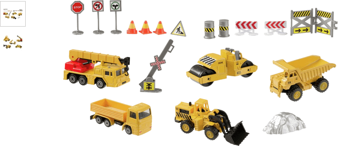 Chad Valley Construction Vehicles Construction Set