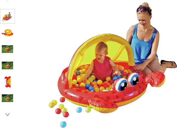 Chad Valley Crab Baby Pool and Ball Pit