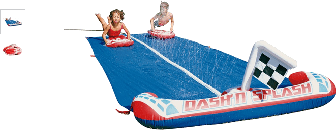 chad valley dash and splash inflatable water slide