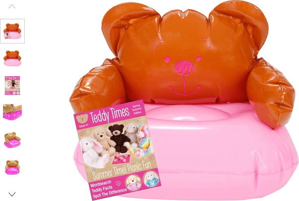 chad valley design-a-bear chill out inflatable chair