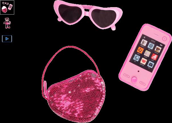 chad valley design-a-bear handbag accessory set