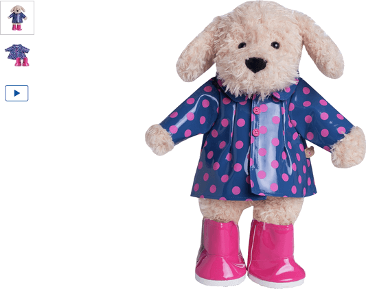 chad valley design-a-bear rain coat outfit