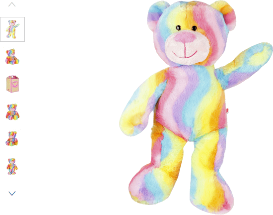 chad valley design-a-bear rainbow teddy