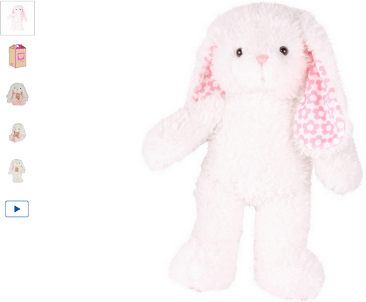 chad valley design-a-bear white flower bunny soft toy