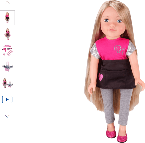 chad valley designafriend stylist doll set sophia