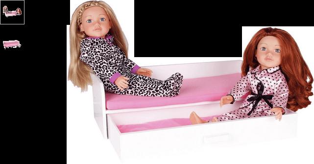 chad valley designafriend wooden sleepover bed