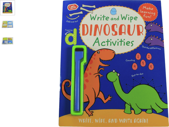 chad valley dinosaur write & wipe activity