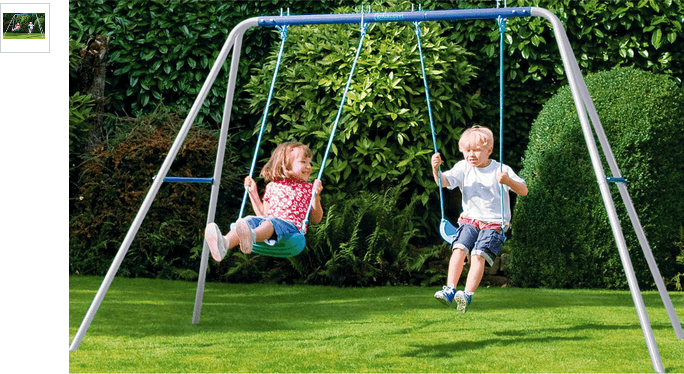 chad valley double swing set