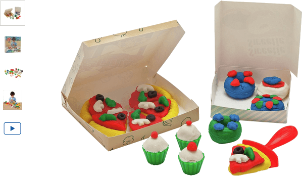 Chad Valley Dough Pizza and Cupcake Set