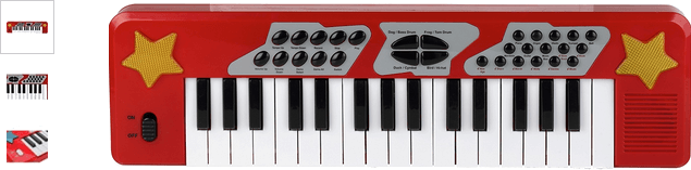 Chad Valley Electronic Keyboard - Red