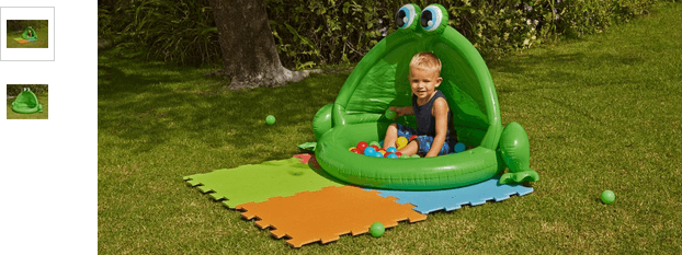 Chad Valley Frog Baby Pool and Ball Pit