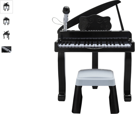 Chad Valley Grand Black Piano