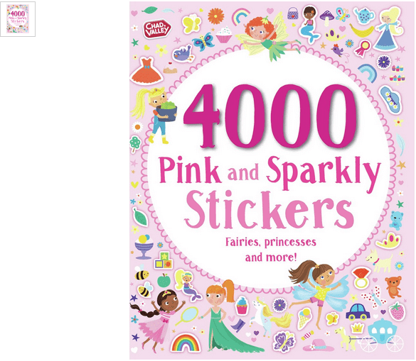 chad valley pink and sparkley 4000 sticker book