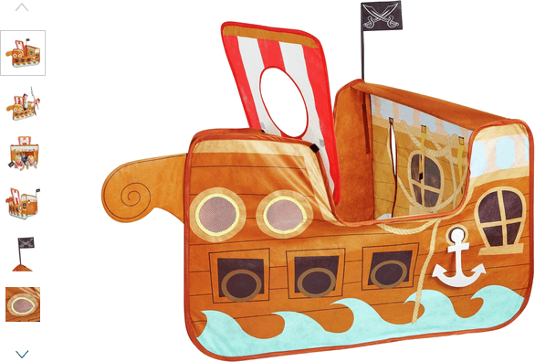 chad valley pirate ship pop up - playtent