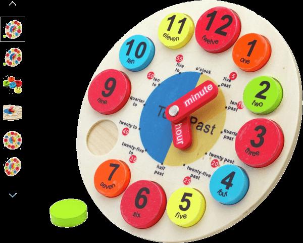 chad valley playsmart wooden clock