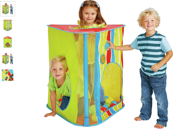 chad valley stripe and mesh large play tent