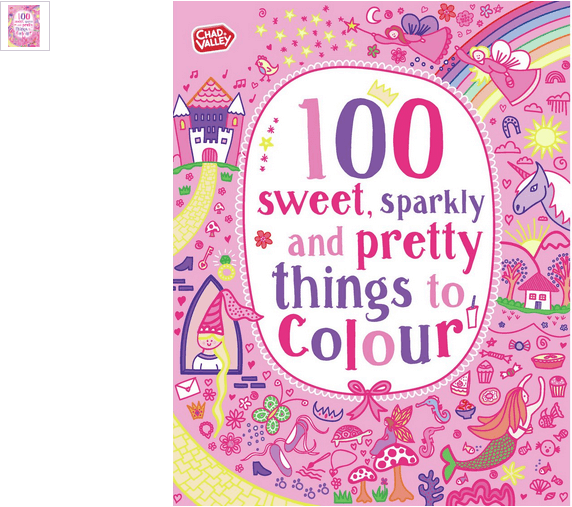 chad valley sweet, sparkly n pretty colouring book