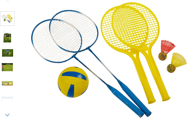chad valley tennis, badminton and volleyball set