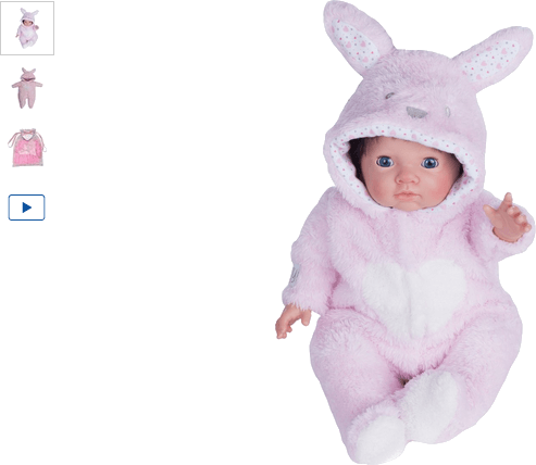 chad valley tiny treasures bunny cosy outfit